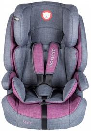 Mašīnas sēdeklis Lionelo Nico, pelēka/violeta, 9 - 36 kg