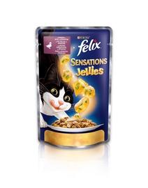Felix Sensations Jellies Duck & Spinach 100g