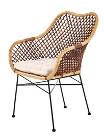 Halmar K336 Chair Natural/Dark Brown