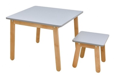 Bellamy Woody Table And Stool Grey