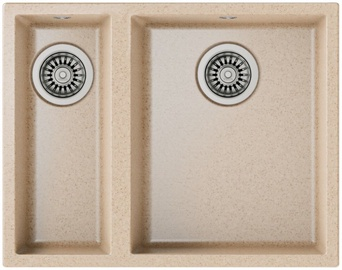 Teka Square 2B 540 TG Sink Beige