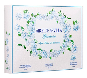 Instituto Español Aire De Sevilla Agua Fresca De Gardenias 150ml EDT + 150ml Body Cream + 150ml Shower Gel