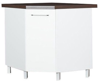 Virtuves skapītis Bodzio Loara Bottom Corner With Basket White, 760x520x860 mm