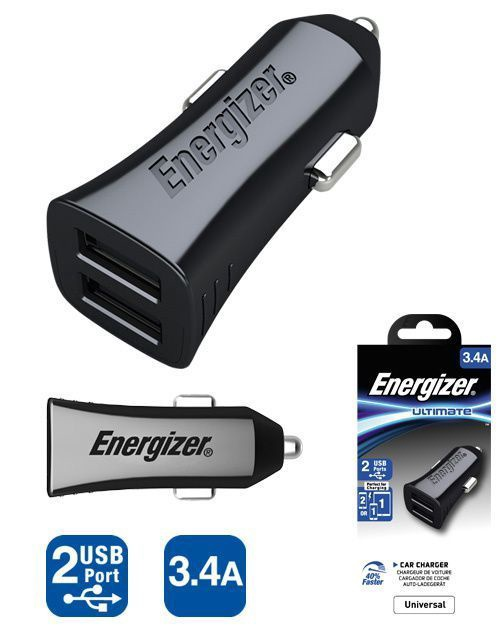 Energizer Ultimate Universal Car Charger 3.4A Black