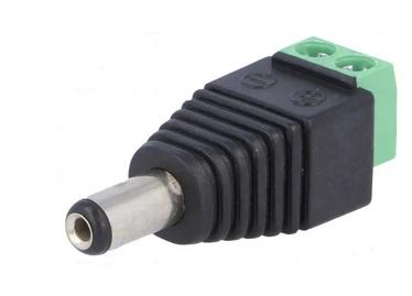 Соединитель для кабеля DC/SEC-5.5/2.1-M, Овальный (кабель), IP20