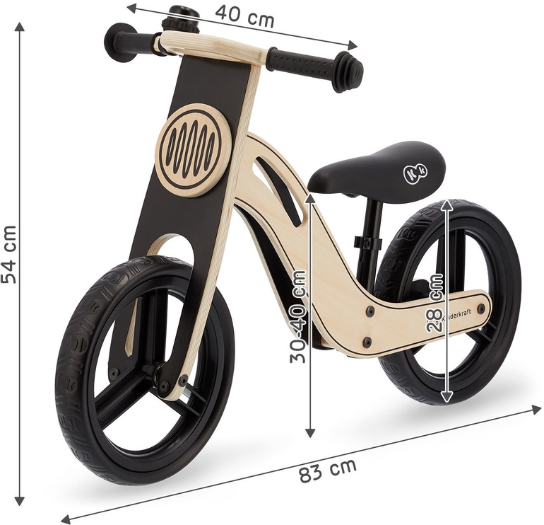 Балансирующий велосипед KinderKraft Uniq 5010102-0112, коричневый/черный, 12″