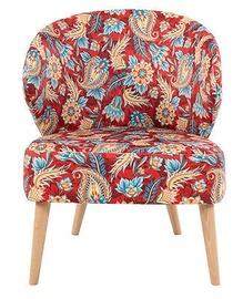 Кресло Black Red White Garita, многоцветный, 60 см x 70 см x 77 см