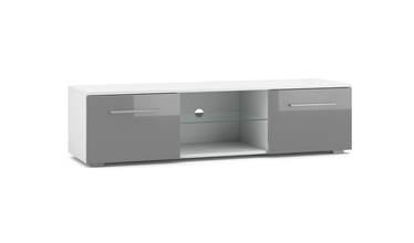 ТВ стол Vivaldi Meble Moon, белый/серый, 1400x400x360 мм