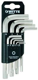 Witte Hexagonal Key Wrench Set 1.5-10mm 9pcs
