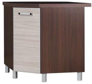 Apakšējais virtuves skapītis Bodzio Ola Corner Gloss Latte, 760x520x860 mm