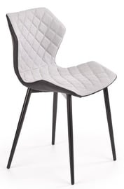 Halmar Chair K389 Light Grey/Black
