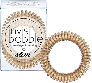 Резинка для волос Invisibobble Slim Hair Rings 3pcs Bronze Me Pretty