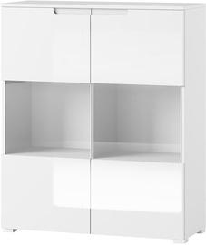 Шкаф-витрина Szynaka Meble Selene 27, белый, 100x39x119 см
