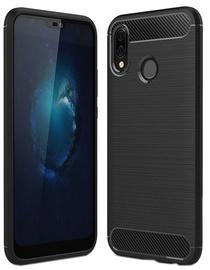 Hurtel Carbon Back Case For Huawei P20 Lite Black