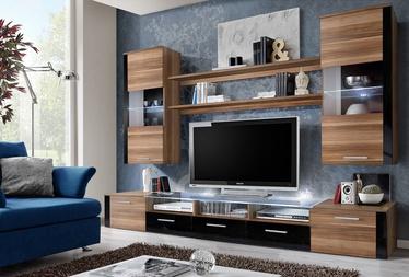 ASM Fresh Living Room Wall Unit Set Plum/Black