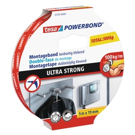 Līmlente Tesa Powerbond Montage Fix Double Sided Ultra Strong 5mx19mm White