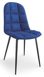 Ēdamistabas krēsls Halmar K417, zila/melna