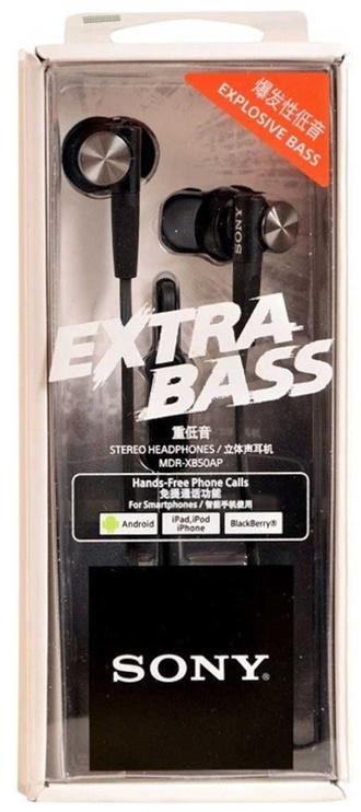 Наушники Sony XB50AP Extra Bass in-ear, черный