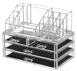 Kosmētikas uzglabāšanas kaste Songmics Cosmetic Storage Box 24x13.5x18.5cm Transparent