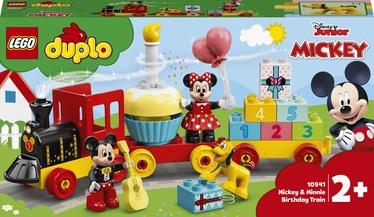 Konstruktors LEGO Duplo Disney Mikipeles un Minnijas dzimšanas dienas vilciens 10941