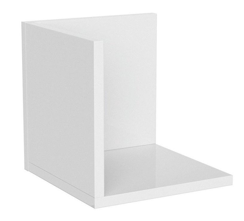 Black Red White Priceton Wall Shelf 25cm White