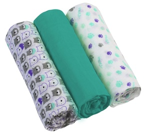 BabyOno Muslin Diapers Super Soft Turquoise 3pcs