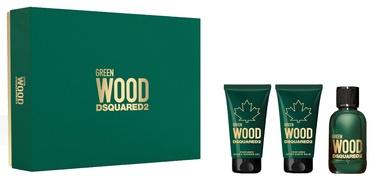 Komplekts vīriešiem Dsquared2 Green Wood 3pcs Set 150ml EDT