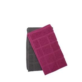 Кухонное полотенце Lotos-Square 6141703 Grey/Cherry, 30x50 см, 2 шт.