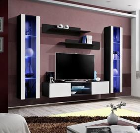 Dzīvojamās istabas mēbeļu komplekts ASM Fly O2 White/Black
