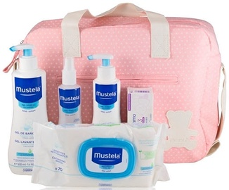Mustela First Products Bag 6pcs Set 1050ml Pink