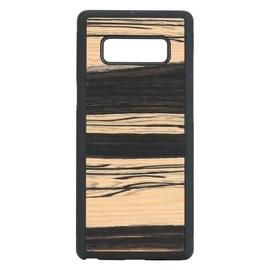 Man&Wood White Ebony Back Case For Samsung Galaxy Note 8 Black