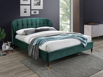 Signal Meble Liguria Velvet Bed 160x200cm Green