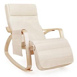 Atzveltnes krēsls Songmics Cream, 55x80x91 cm
