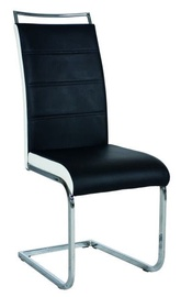 Ēdamistabas krēsls Signal Meble H441 White Black, 1 gab.