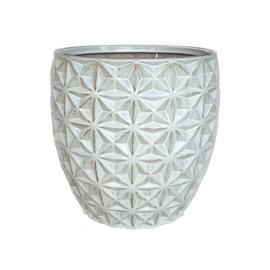 SN Ceramic Flower Pot IP17-790 D26cm White
