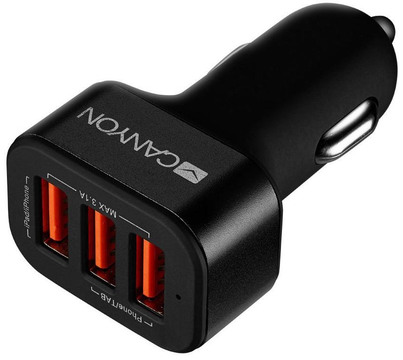 Canyon Triple USB Car Charger Black