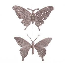Ziemassvētku eglītes rotaļlieta 518622 Butterflies, 1 gab.