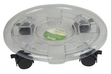 Puķu poda paplāte SN Pot Plate With Wheels Transparent