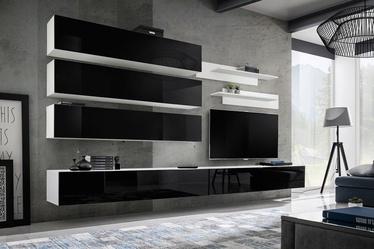 ASM Fly J1 Living Room Wall Unit Set Black/White