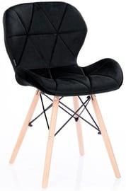Ēdamistabas krēsls Homede Silla Velvet Black, 4 gab.