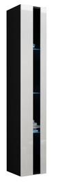 Cama Meble Vigo New Shelf Unit Black/White Gloss