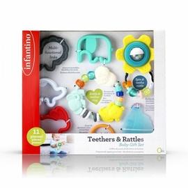 Zobu riņķis Infantino Infantino Set Of First Teethers & Rattles, daudzkrāsains, 11 gab.