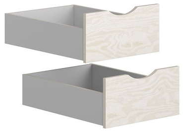 Black Red White Drawers for Stanford Wardrobe Light Grey/Plywood