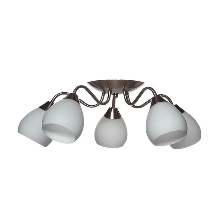 Gaismeklis Okko Ceiling Lamp Alanta MX90403/5 5x60W White/Silver