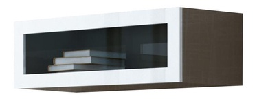 Cama Meble Vigo 90 Cabinet Glass Latte/White Gloss