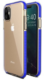 TakeMe Transparent Back Case With Color Frame For Apple iPhone 11 Blue