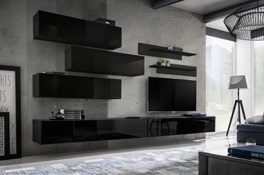 ASM Fly K1 Living Room Wall Unit Set Black