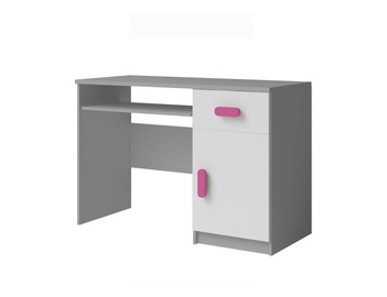 Rakstāmgalds Idzczak Meble Smyk II 08 White/Grey/Pink