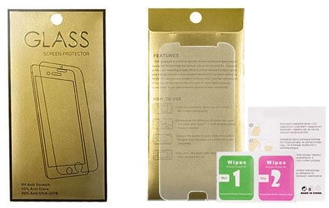 Gold Tempered Glass Screen Protector For Apple iPhone X