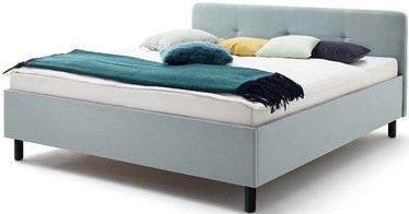 Кровать Meise Möbel Amelie Graphite Base Ice Blue, 200x180 см